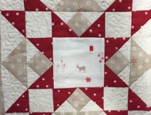 Weihnachtliche Vorführung in der Galerie vom Team Quilt Et Textilkunst
