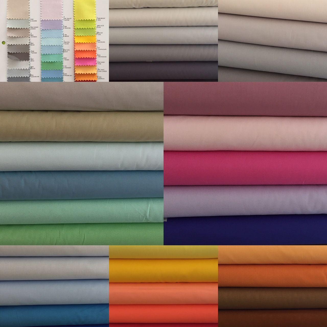 wir haben jetzt die neuen einfarbigen Stoffe von Kona Cotton von 2017