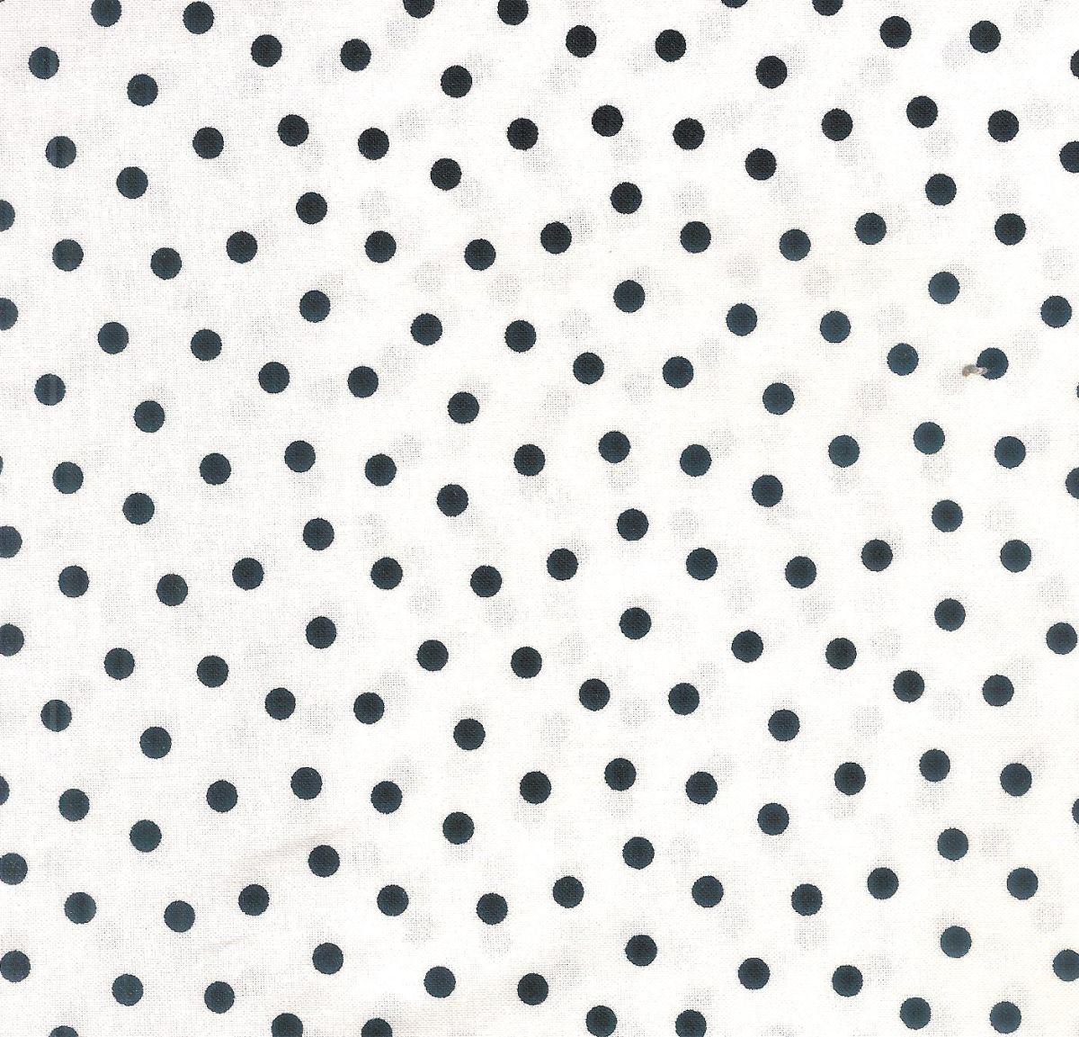 Weisser Stoff Mit Schwarzen Punkten Bei Quilt Und Textilkunst