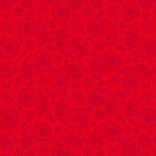 Paisley auf rot