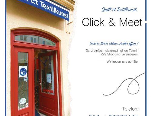 Click & Meet  – nur mit negativem Testergebnis möglich