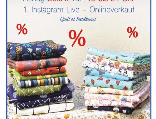 1. Instagram live Verkauf Freitag 30.4. 19 – 21 Uhr