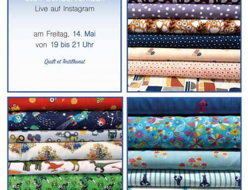 2. Instagram live Verkauf am Freitag  14. Mai 19 bis 21 Uhr