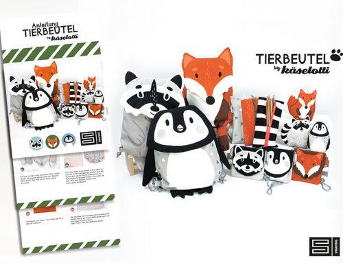 Tierbeutel Paneel Fuchs oder Waschbär by Käselotti